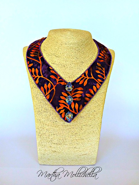 Batik Fabric Jewels by Martha Mollichella