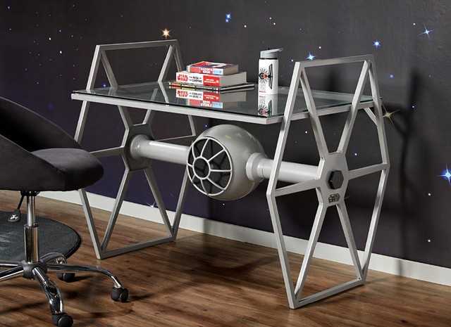Work in Style with the TIE Fighter Gray Desk from Rooms to Go!