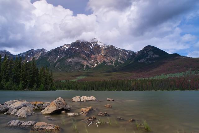 Lake in Jasper Canada.