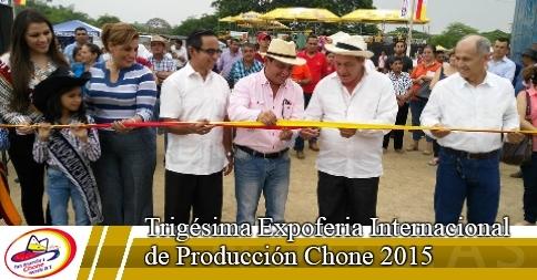 Trigésima Expoferia Internacional de Producción Chone 2015