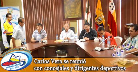 Carlos Vera se reunió con concejales y dirigentes deportivos