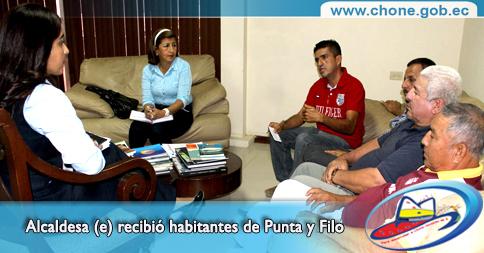 Alcaldesa (e) recibió habitantes de Punta y Filo