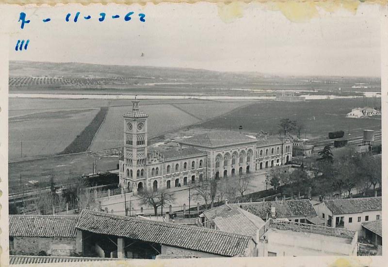 Estación de Ferrocarril en 1962. Fotografía de Julián C.T.
