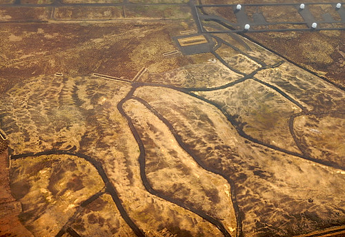 Aerial shot of a landform in Iceland