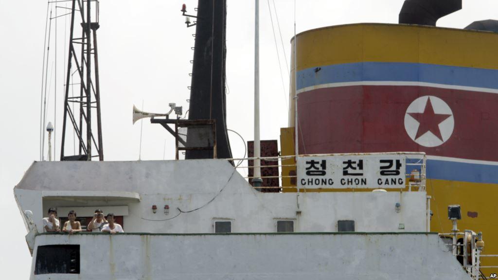 North Korean crew members aboard the Chong Chong Gang at Colon, Panama, July 2013.