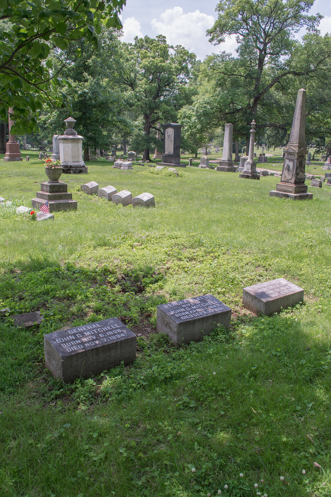 Mitchell family plot - Green Lawn Cemetery