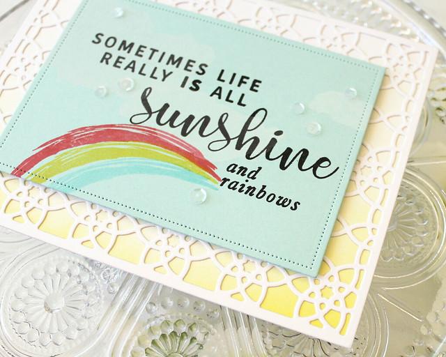 LizzieJones_YellowSunshine_BoldBordersPrism_PapertreyInk_July2018_SunshineAndRainbowsCard2