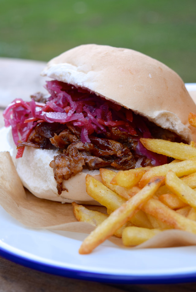 Shredded Barbecue Duck Rolls with Red Slaw #streetfood #duck #barbecue #slaw #dinner #weeknight