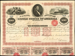 Loan of 1861 $100 Coupon Bond