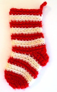 Striped BLO Christmas Stocking