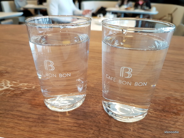Cafe Bon Bon water glasses