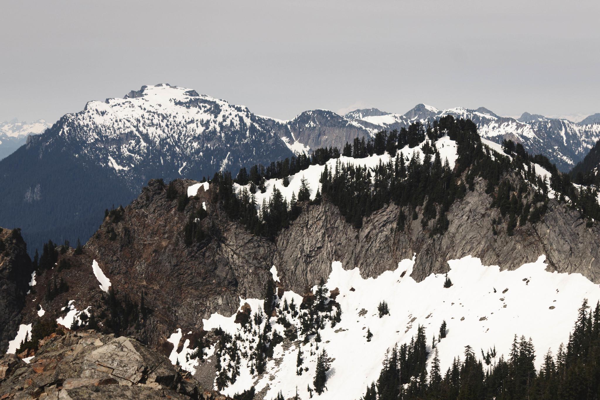 Big Snow Mountain and Kendall Katwalk Peak