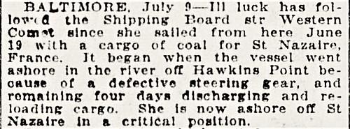 NY Tribune 10 Jul 1921 p19 col4