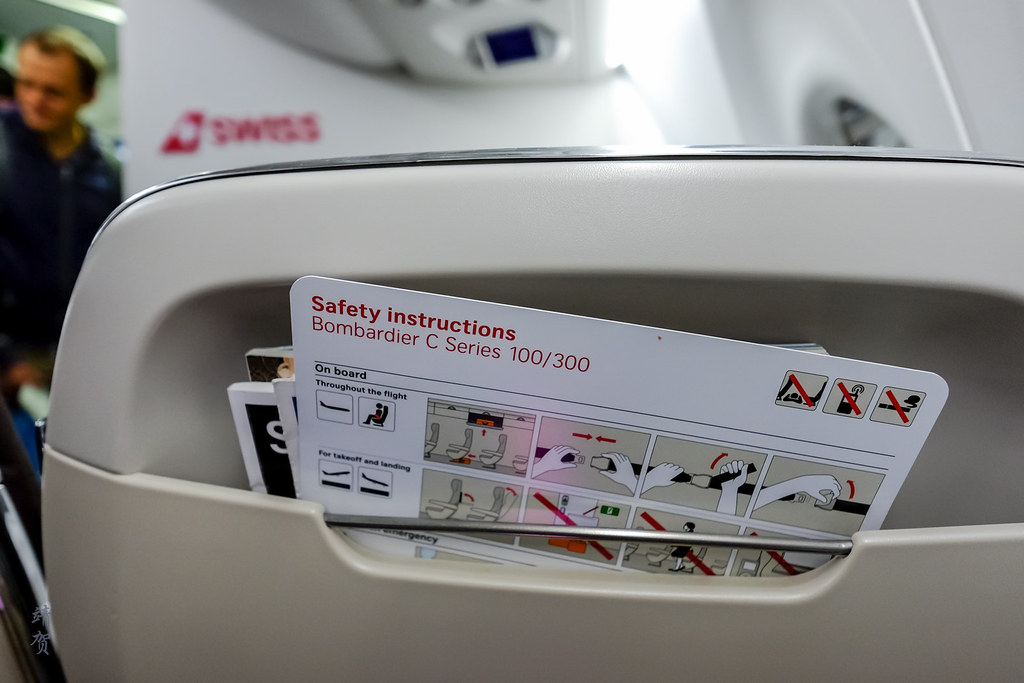 Safety card on seatback pocket