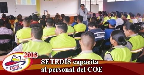SETEDIS capacita al personal del COE