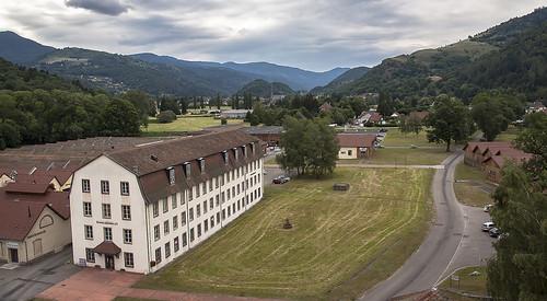 Wesserling et le fond de la vallée de la Thur