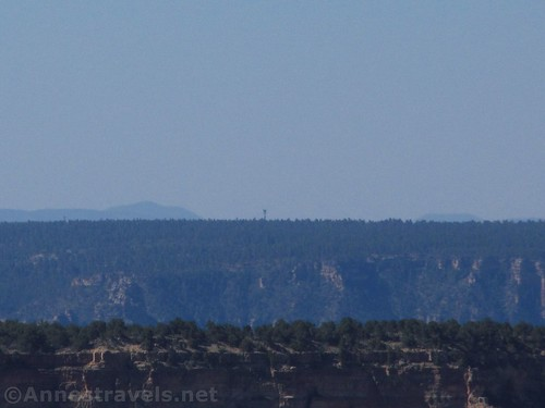 The Grandview Lookout Tower from Honan Point, North Rim of Grand Canyon National Park, Arizona