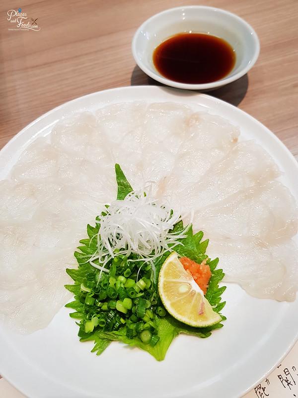 guenpin fugu osaka sashimi pufferfish
