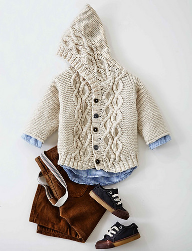 Cabled Knit Cardigan by Patons