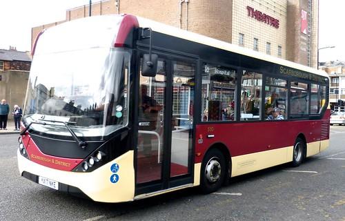 YX17 NKE 'East Yorkshire Motor Services'  No. 510 'Scarborough and District'. Alexander Dennis Ltd. E20D / Alexander Dennis Ltd.Enviro 200 on Dennis Basford's railsroadsrunways.blogspot.co.uk'