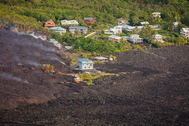 Kapoho Bay Hawaii Lava Destroyed Homes 2