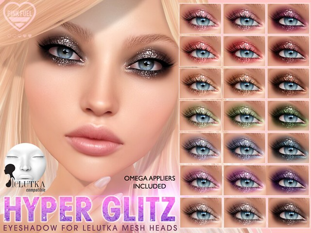 [PF] LELUTKA Eyeshadow - Hyper Glitz (Crystal Heart Festival)