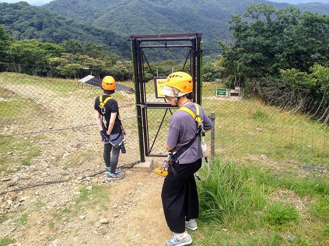 蓬莱山 琵琶湖バレイ ジップライン入口