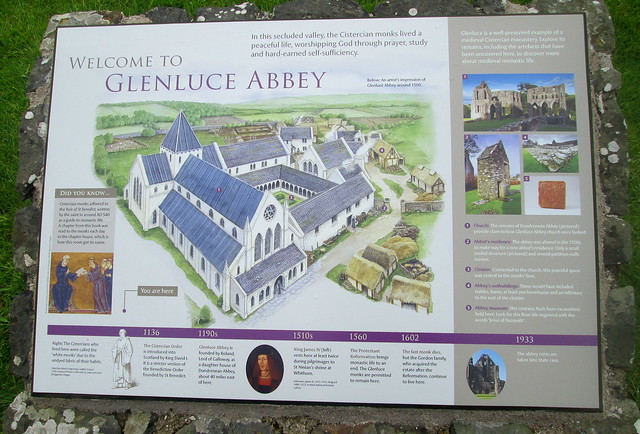 Glenluce Abbey Info Board