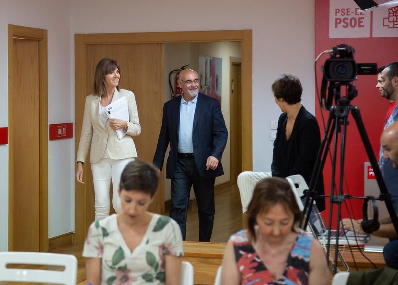 Rueda de prensa de Idoia Mendia y Jose Antonio Pastor