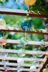 一顆一顆的風鈴泡泡浮在天上