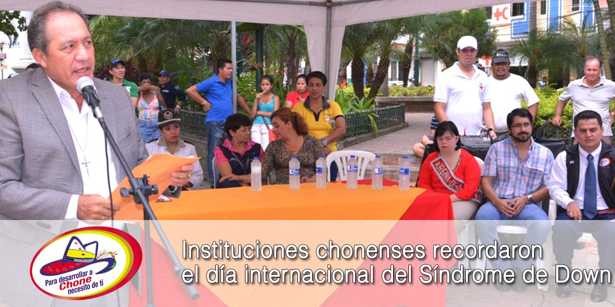 Instituciones chonenses recordaron el día internacional del Síndrome de Down