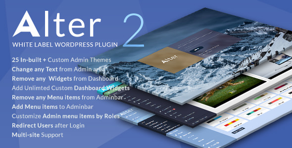 WpAlter v2.3.6 - White Label Wordpress Plugin