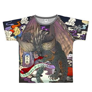 滿版印刷的浮世繪風格!《魔物獵人:世界》X『B-SIDE LABEL』 滅盡龍 / 麒麟 和風圖繪聯名T-shirt