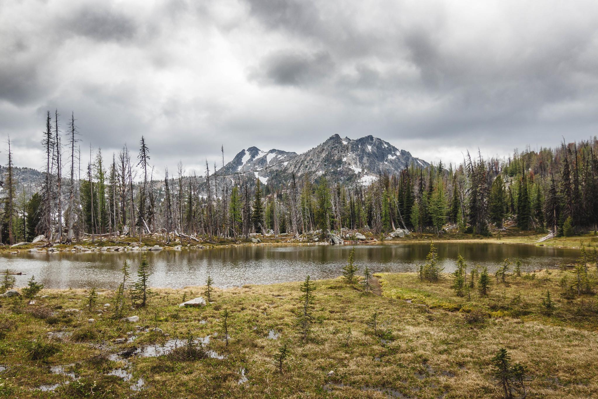 Rock Lake backed by Peepsight Mountain