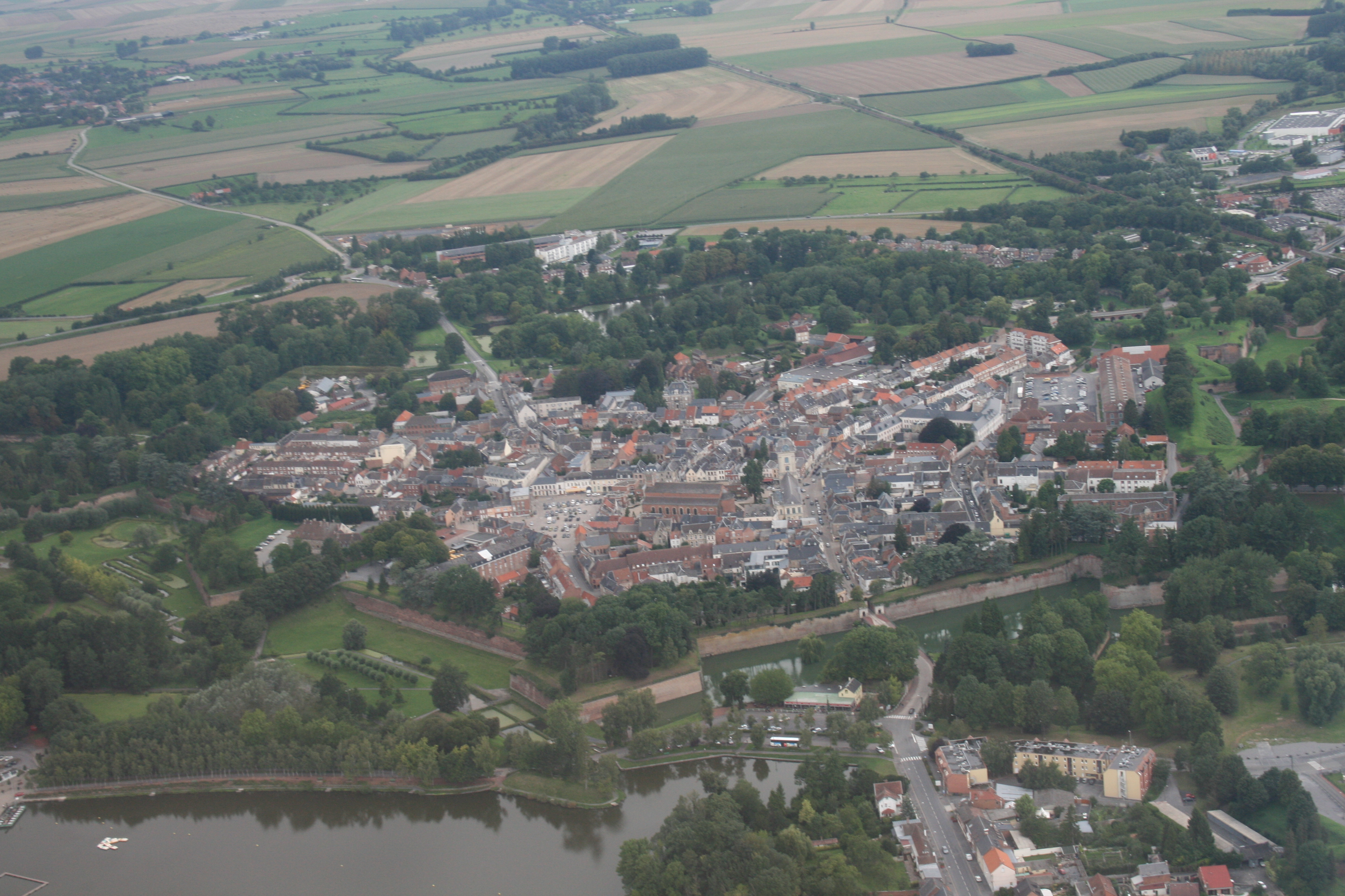 Aerial view of Le Quesnoy, France, taken on August 28, 2010.