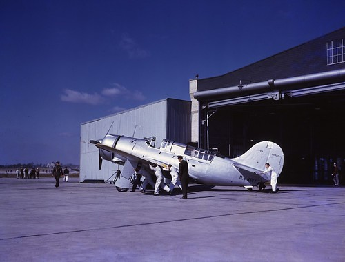 Curtiss XSB2C-1 Helldiver (1758) at Buffalo Airfield NY 1941.
