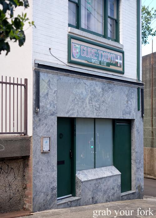 Entry to Gure Txoko Basque Club in Sydney
