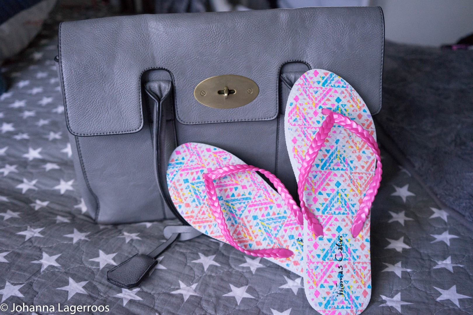 bag and sandals