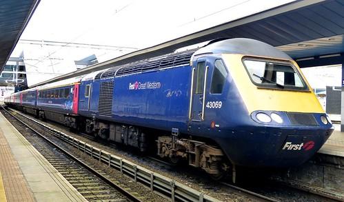 Class 43 'First Great Western' No. 43069. HST on Dennis Basford's railsroadsrunways.blogspot.co.uk'