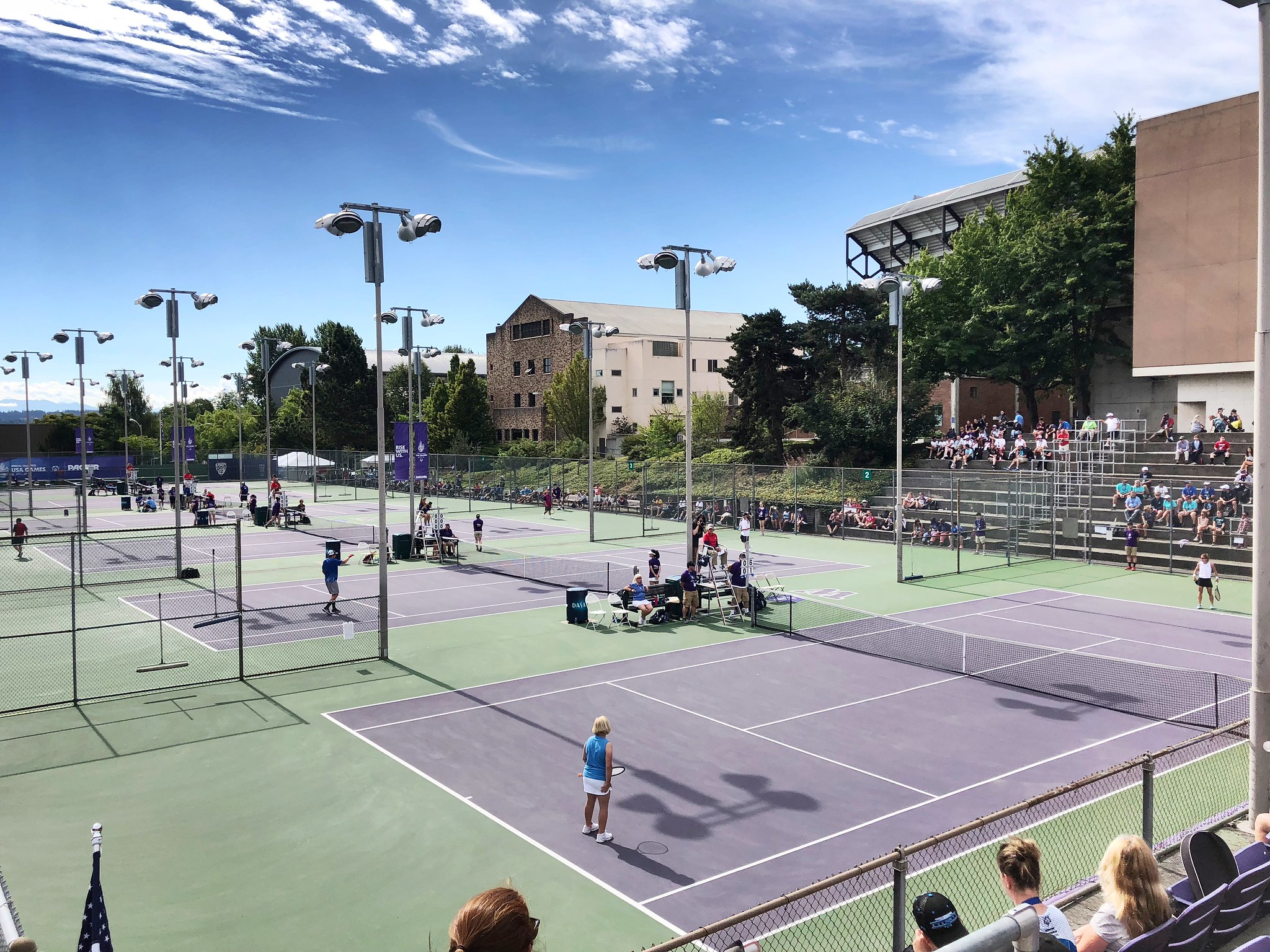 Took in some tennis on the last day of competition