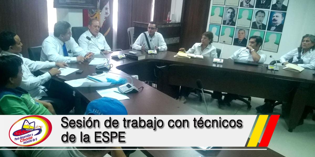 Sesión de trabajo con técnicos de la ESPE