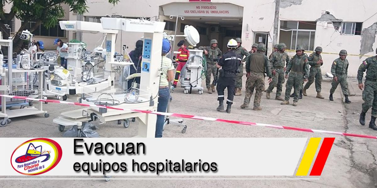 Evacuan equipos hospitalarios