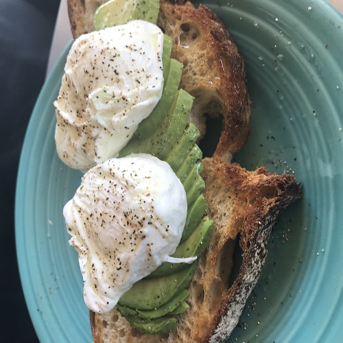 Avocado toast at Bread and Cie