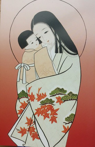 Jesus and Mary in Kimono