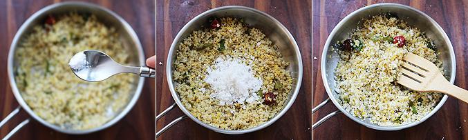How to make quinoa sundal recipe - Step4