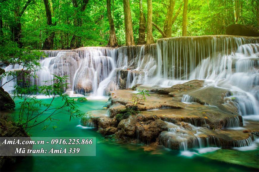 Tranh phong cảnh đẹp thác nước AmiA
