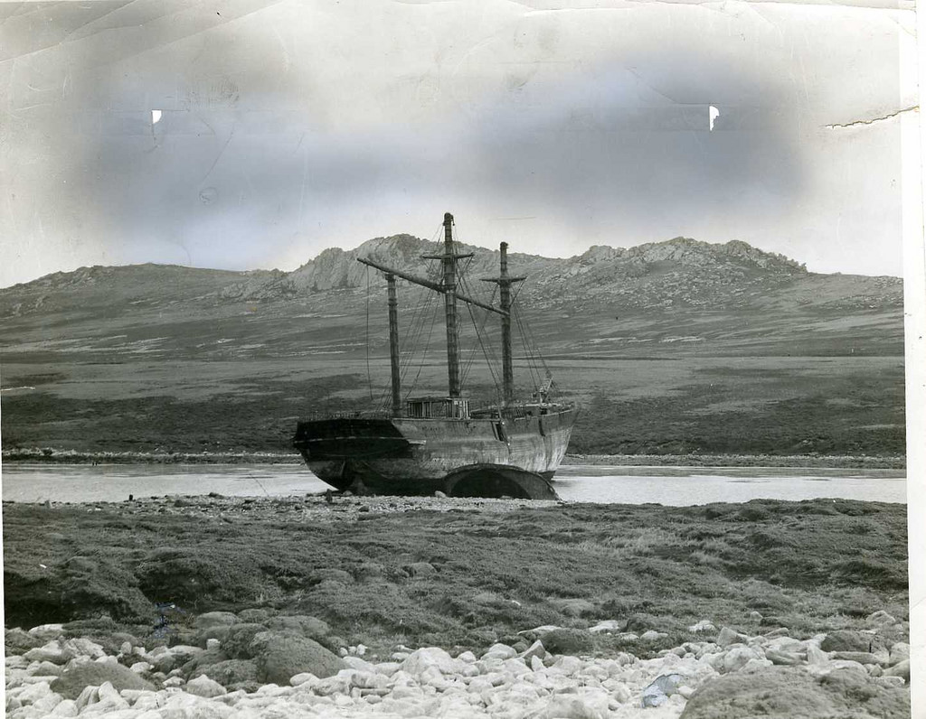 SS Great Britain in Sparrow Cove, Falkland Islands.