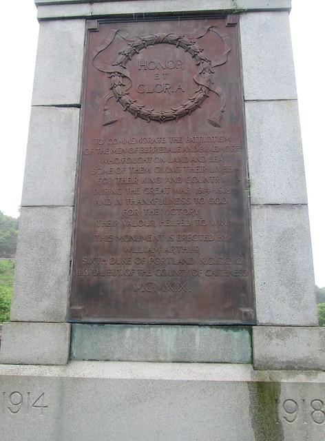 Berriedale War Memorial Dedication