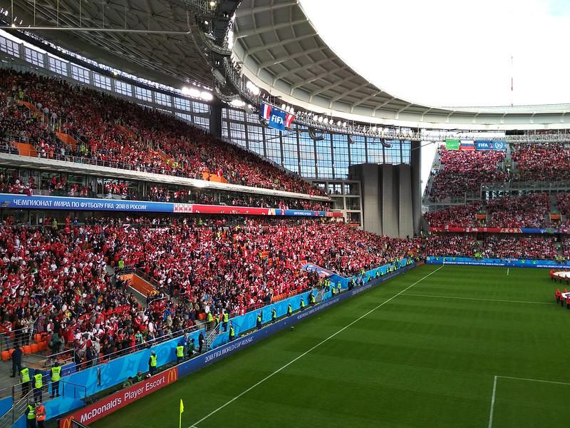 Чемпионат мира 2018 - Екатеринбург - Перуанцы на арене