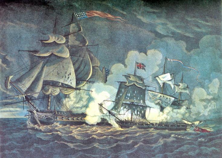 USS President fires on HMS Little Belt, May 16, 1811.